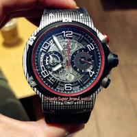 yarış pisti toptan satış-En iyi sürüm Klasik Fusion GT 526.QB.0124.VR Karbon Fiber Kılıf Japonya VK Kuvars Chronograph İskelet Dial Mens Watch Yarış Spor Saatler