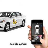 Wholesale remote central entry lock locking for sale - Group buy Keyless Entry Car Alarm Systems Auto Remote Central Door Locking Vehicle SmartPhone PKE Control Car Alarm System B Kit