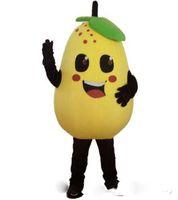 traje amarillo de juego de rol al por mayor-Descuento venta de fábrica 2019 pera amarilla traje de la mascota juego de rol Peras dibujos animados ropa tamaño adulto