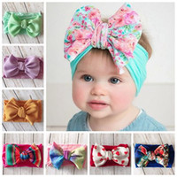 Wholesale hair band for babies girl resale online - 2019 kids hair accessories for girls jojo siwa head bands baby girl hair bows children printed hairbands nylon headwraps boutique headbands