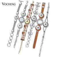 joyería de botón a presión vocheng al por mayor-Vocheng Ginger Snap Jewelry Snap Charms Pulsera para 18mm Snap Button Jewelry 19 Estilos NN-636