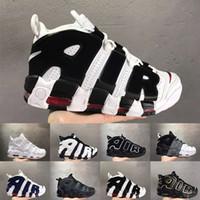pippen schuhe großhandel-Uptempo 96 QS Olympic UK Frankreich Herren Basketball Schuhe CHI SUP 3M Scottie Pippen Herren Trainer Sport Designer Sneakers Größe 36-47