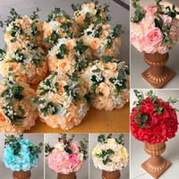 ingrosso decorazioni di fiori artificiali per matrimoni-Rosequeen Fiore artificiale per matrimoni palla di fiori per centrotavola decorazione tavola piombo fiore decorazione della casa fiori