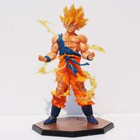 goku super saiyan toys al por mayor-Dragonball Dragon Ball Z Súper Saiyan Son Gokou PVC Figura de Acción de Goku Figuras Colección Modelo de Juguete de Regalo Con Caja 17 cm