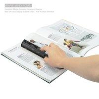 mini scanner usb venda por atacado-Melhor Venda Portátil Scanner 900 DPI Handheld A4 mini Scanner de Documento JPG e PDF formate Barcode Scanner caneta