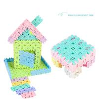 kağıt model binalar toptan satış-Çocuk bulmaca figürleri yaklaşık 50 parça sıcak plastik geometrik şekiller yapı taşları eğitici oyuncaklar içine yazıldığından