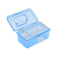 ingrosso artisti forniture-Clear Plastic Art Storage Box Supplies Forniture Custodia multiuso Meidum Dimensioni con manico per artisti Studenti Strumenti di medicazione Cosmetici Fishin