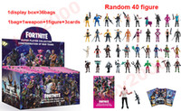 Wholesale toy boxes for sale - 77types Action Figure Cartoon Fortnite Plastic Doll toys kids cm cm inch game llama skeleton role Child Toy with display box bags