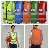 Wholesale man work clothing online - 5 Colors Safety Clothing Reflective Vest Hollow Grid Vest High Visibility Warning Safety Working Construction Traffic Vest CCA10955