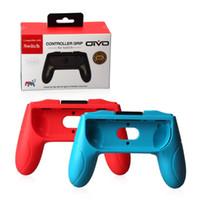 soporte del controlador al por mayor-Empuñaduras calientes para Nintendo Switch Joy Con Controller Juego de 2 manijas Asas de mano de confort Kits Soporte Soporte Shell