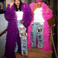 ingrosso giacche formali di usura-Colorful Plus Size giacca / wrap per Prom Dresses A strati tulle nero ragazze Abiti formali del partito fucsia viola gli abiti di sera