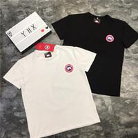 004f741fba7b1 19ss Nouvelle Arrivée Canada Lovers Coton Tshirts Paris Oie Impression À  Manches Courtes D'été Tee Respirant Gilet Chemise Streetwear En Plein Air  T-shirt