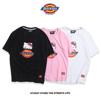 d173548c5 The new dickiess hello Kitty Japanese couple T-shirt, men's fashion short  sleeve s-xl
