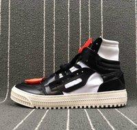 cordón negro de los hombres al por mayor-Blanco Negro de los hombres Off Shoelace Trails Moda Casual Zapatos de diseñador