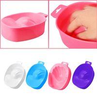 tazón de manicura de uñas al por mayor-herramienta removedor 1 PC Art Hand Wash Remover Soak Plastic Bowl Nail Bath Manicure Tool