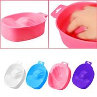 tigela manicure unha venda por atacado-Removedor ferramenta 1 PC Art Hand Wash Remover Soak Plastic Bowl Prego Bath Manicure Ferramenta