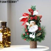 meilleur sapin rouge achat en gros de-FUNNYBUNNY Mini arbre de Noël artificiel avec ornements rouges Meilleur choix Décoration de Noël pour table et bureaux
