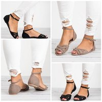 Wholesale woven shoe sale for sale - Group buy Summer Rome Style Ladies Slipper Flat Bottom Weave Tightness Fish Mouth Sandals Buckle Big Code Shoes Hot Sale sd I1