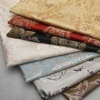 telas de hilo teñido al por mayor-Almohada de imitación de seda europea Funda de cojín Tapicería Hilado teñido Jacquard Sofá Tela Ancho 148 cm