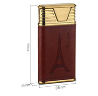 Wholesale electronics prints for sale - Group buy 2019 Newest Tower Print USB Metal Electronic Lighter Cigarette Smoking Rechargeable Lighters Types With Gift Box For Lover