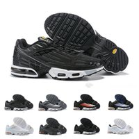 Wholesale desiger shoes for sale - Group buy 2019 TN Plus III Men Women desiger TUNED Running Shoes Classic athletic Black White Sport Shock Sneakers requin Blue Spider Size