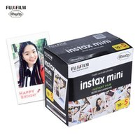 anlık kameralar toptan satış-Fujifilm Instax Film Mini Beyaz Film Fotoğraf Kağıdı Fotoğraf Albümü Anında Baskı 50 Yaprak Için 7 s / 8/25/90 Kamera Fotoğrafçılığı