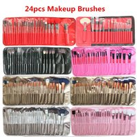 Wholesale pincel bag resale online - 9style Makeup Brushes Set Pink Beauty Stylish Cosmetics Eyebrow Shadow Powder Pincel Make Up Tools Pouch Bag Set
