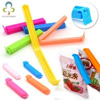 Wholesale 10Pcs Portable New Kitchen Storage Food Snack Seal Sealing Bag Clips Sealer Clamp Plastic Tool Organization