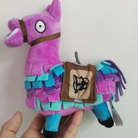 Wholesale toy boxes online - 8 Inch Original Fortnite Surprise Treasure Box Plush toys Troll Stash Llama Alpaca Rainbow Horse Fortnight Game toys
