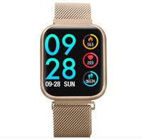 ingrosso vigilanza del tocco della donna-P80 Smart Watch Full Touch Pressione sanguigna Cardiofrequenzimetro Monitoraggio del sonno Salute Smartwatch Uomo Donna Per IOS Telefono Android