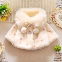 tavşan kürklü polar toptan satış-Yeni kız kürk pelerin mercan polar tavşan kulaklar hood ile ceket sevimli saç top kış furry99910x6
