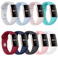 активные часы оптовых-Замена силиконового спортивного ремешка для Fitbit Inspire HR Charge 3 2 Versa Samsung Galaxy Watch Активный ремешок для часов Apple Watch