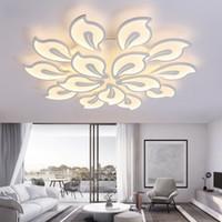 iluminação grande sala branca venda por atacado-Branco Acrílico Modern LED Lustre Para Sala de estar Quarto LED Lustres Grande Lustre de Teto Luminárias AC85-260V