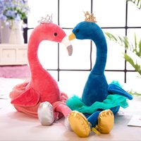 Wholesale cute toys for kids resale online - 35cm Cute Pink White Blue Flamingo Plush Toys Stuffed Wildlife Bird Swan Dolls for Kids Birthday Gift for Kids Decoration