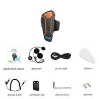 helm walkie talkies headsets groihandel-Wt003 1000M Ip67 Wasserdichte Motorrad-Sturzhelm Walkie-Talkie Motorrad Walkie-Talkie Headset mit UKW-Radio