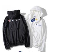ince rüzgarlık toptan satış-Marka Giyim Erkek Rüzgarlık Ceket için Ince Ince Ilkbahar Yaz Spor Rahat Mont Giymek