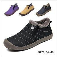 zapatillas de suela de goma al por mayor-Botas de nieve Botas de algodón de felpa Botas antideslizantes de invierno Zapatillas de deporte impermeables Zapatillas deportivas al aire libre Suela de goma Zapatillas deportivas TL104
