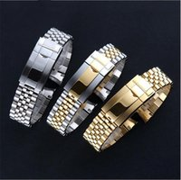 bracelet fin pour les montres achat en gros de-Bracelet de montre de luxe 20mm Bracelet de montre en acier inoxydable 316L Bracelet Fin Curved Silver Watch Accessoires Convient pour les montres GMT