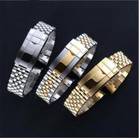 armband endband für uhren großhandel-Luxus-Uhrenarmband 20 mm Uhrenarmband Armband aus Edelstahl 316L, gebogenes Ende, silbernes Uhrenzubehör Geeignet für GMT-Uhren