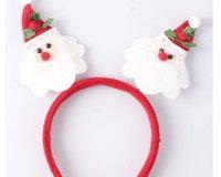 diademas de fiesta adultos al por mayor-2018 Santa Claus apoyos accesorios para el cabello diadema holiday joyería de la venda de los hijos adultos sencillo