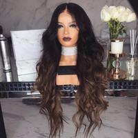 kızlar kahverengi saç peruk toptan satış-10pcs Peruk Avrupa Ve Amerikalı Girls'Curly Saç Siyah Kahverengi Kademeli Varyasyon Orta Kısım Sentetik Elyaf Saç Peruk Gül İntranet