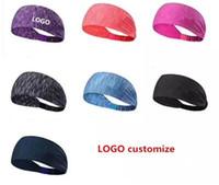 Custom Logo For Sport Headband Under Sweat Wicking Stretchy Athletic Bandana Headscarf Yoga Headband Head Wrap Best for Sports Exercise