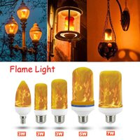 Wholesale fire burning resale online - UK E27 LED Flicker Flame Light Bulb Simulated Burning Fire Effect Party Lamp New