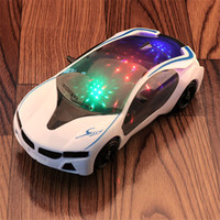 Wholesale best lighted toys for sale - Group buy Electric universal D light music car concept car model children s toy car Give your child the best gift