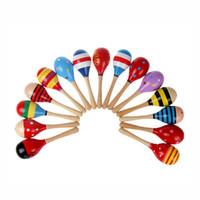 Baby Toys Kids Wooden Rattle Maracas Cabasa Music Instrument Sand Hammer Orff Instrument Maracas Infant toys 0601862