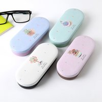 Wholesale spectacle sunglasses resale online - Four Candy Colors Available Lovely High Quality Hard Glasses Case Cute Eyeglass Sunglasses Protector Box Girls Spectacle Case