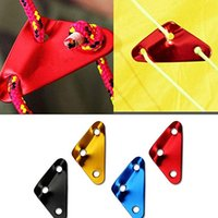 Wholesale canopy tent accessories resale online - 4 Colors Aluminum Alloy Triangle Non Slip Buckle Adjustment Umbrella Rope Buckle Tent Canopy Pull Rope Accessories Medium Outdoor M416F