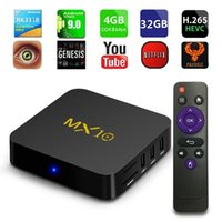 Wholesale best android smart tv box for sale - Group buy Best selling android TV BOX MX10 RK3318 Quad core GB GB GB GB G WIFI HDMI USB3 H smart box