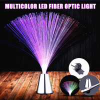 Wholesale fiber optic lighting trees resale online - Multicolor LED Fiber Optic Light Night Lamp Home Holiday Wedding Christmas Wedding Home Decoration Nighting Lighting Lamp