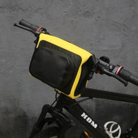 Wholesale bicycle pouch bags resale online - Tourbon Bicycle Handlebar Bag Front Pouch Bike MTB Cycling Waterproof Phone Storage Multi purpose Carrier Reflective